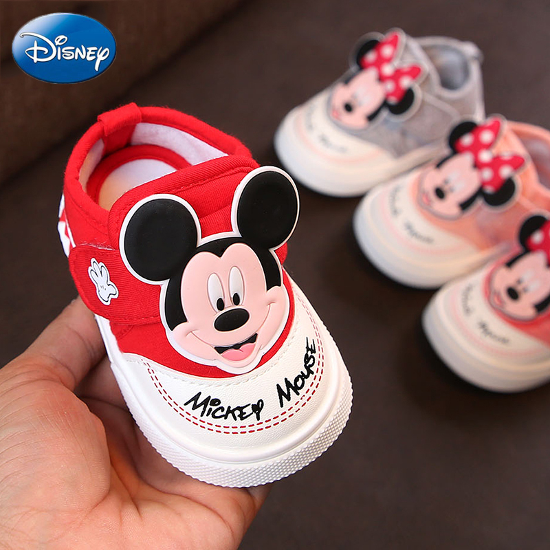 2019 Disney New Baby Casual Shoes Girl Mickey Kids Beach Travel Sports Running Canvas Boys Minnie Cartoon Toddler Non-slip Shoe