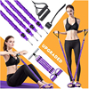 Multifunction Fitness Pedal Exerciser Sit-up Exercise Band Elastic Pull Rope Equipment Tummy Bodybuilding Tension Rope Antibreak