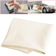 Natural Shammy Chamois Leather Car Cleaning Towels Drying Washing Cloth New Q9QD
