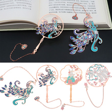 Brass Bookmark Book-Clip Office-Supplies Metal Chinese-Style School Retro Pagination