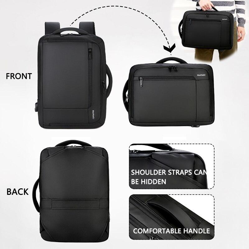 Image 2 - 2019 Mens Anti theft 14 15.6 inch Laptop Backpack USB Charging  Waterproof Male Business Travel Back Pack  Boys School  BagpacksBackpacks