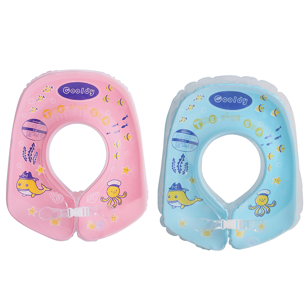 4-18M Baby Swimming Neck Float Ring Inflatable Kid Neck Swim Ring Circle Baby Bath Toy Swim Trainer Swimming Pool Accessories