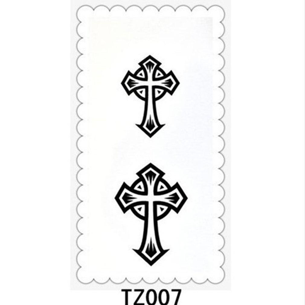 Cross Tattoo Stickers Neck Tattoo Stickers