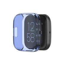 Полный чехол для -Fitbit versa 2 мягкий ультратонкий кристалл прозрачный протектор чехол часы экран протектор часы аксессуары