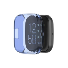 Case Protector Watch-Accessories Crystal-Clear Full-Cover 2 Versa Ultra-Slim For-Fitbit