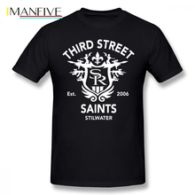 Saints Row T Shirt 3 Tribute Emblem T-Shirt Fashion 5x Tee Mens Awesome Short Sleeves 100 Percent Cotton Tshirt