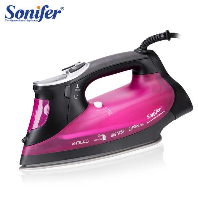 2400W Digital High Quality Laundry Home Appliances Electric Steam Iron With LCD Display Soleplate Travel Iron Ironing Sonifer
