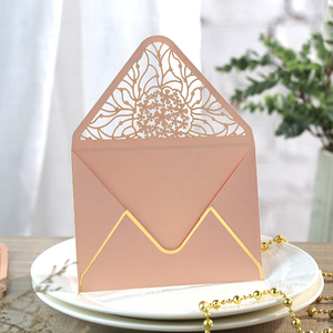 Image 3 - 15pcs/lot Luxury Hot Stamping Envelopes Hollow Invitation Envelopes for Party, Wedding, Business, Opening Activity 175mm X 125mm
