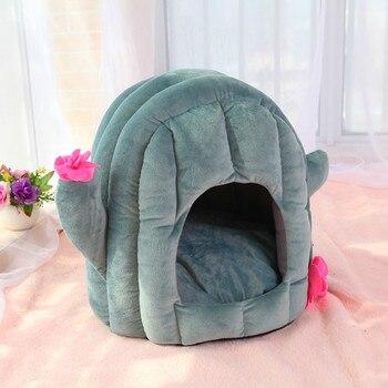 Gemütlichen Haustier Bett Warme Cave Nest Schlaf Bett Kaktus Form Welpen Zelt Haus für Katzen und Kleine Hunde