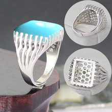 Ring empty support bracket not inlaid with S925 sterling silver DIY jewelry made of charm rectangular male simple 16*18 13*15