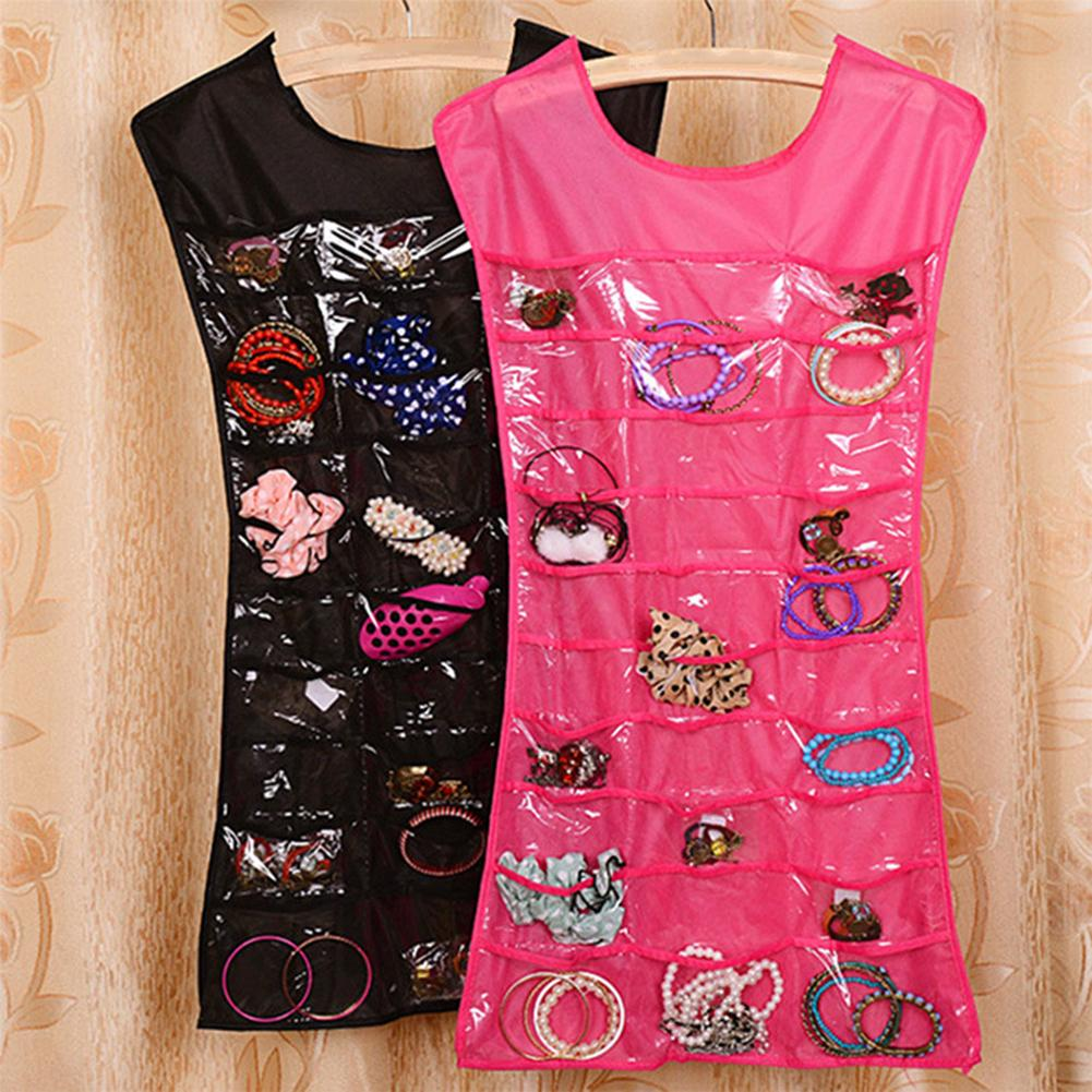 Vest Skirt Design Jewelry Organizer Storage Bag Necklace Holder Hanging Pouch Enough Room For All Of Your Jewelry Collections.