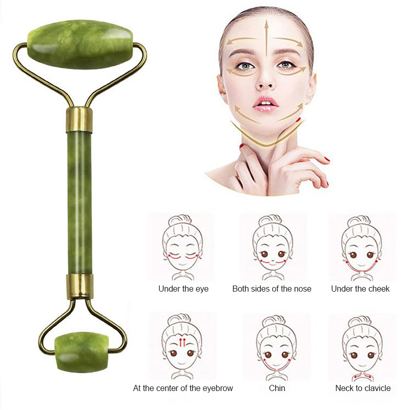 Massager For Face Jade Roller Facial Skin Care Tools Natural Gouache Scraper Body Back Beauty Slimming Massagers Lift Tools 3