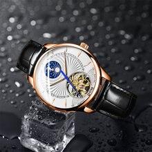 Dom модные часы с турбийоном роскошный брендовый кожаный ремешок
