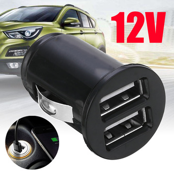 Mayitr 1pc 12V Mini Power Dual 2 Port USB Car Charger Wit Zwart Auto Vrachtwagen Snelle Lader Auto telefoon Adapter voor Auto Elektronica|Stroomadapter|   -