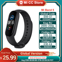 Globale Version Xiaomi Mi Band 5 Armband Herz Rate Fitness Tracker Armband 4 Farbe Strap 1,1 Zoll AMOLED Bildschirm Miband 5