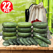 Massage-Set Stones Basalt Spa Jade Health-Care Tontin for Spine Glaze