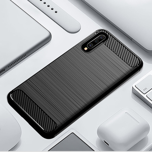 Image 1 - Carbon Soft Silicone Phone Case For Samsung Galaxy A50 A10 A20 A30 A40 A70 M20 M30 M40 Fiber Cover Bumper GalaxyA50 Galaxi 2019