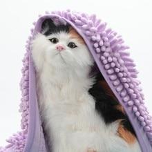 Super Absorbent Bathrobes Pet Sleeping Blanket Soft Drying Bath Towel Skin-friendly Dog For Cat Hoodies Puppy