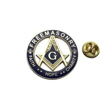 Masonic Lapel Pins Gold Faith Hope Charity Enamel Brooch Gifts Badges With Butterfly Clutch,31.8mm