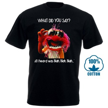 Men Funny T Shirt Fashion Tshirt What Did You Say All I Heard Was Blah Blah Blah Animal Muppet Women T-Shirt what the ladybird heard animal noises jigsaw book
