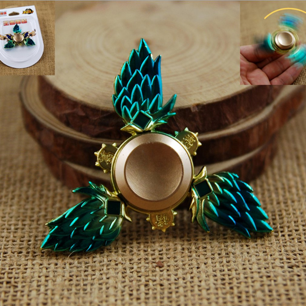 Styling Innovative Alloy Feather Fan Hand Spinner Finger Spiral Toy High Speed For Relieving Stress And Anxiety