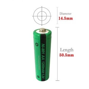 Image 5 - 4pcs PKCELL AA NiMH 충전식 배터리 aa 1200mAh 1.2V Ni MH 산업용 배터리 Bateria Button Top