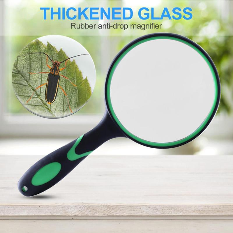 Portable 10X Magnifying Glass Handheld Magnifier Skillful Manufacture Superior Quality For Jade Newspaper Book Reading