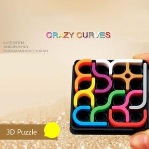 Image 2 - Créatif 3D Intelligence Puzzle fou courbe Sudoku Puzzle jeux géométrique ligne matrice Puzzle jouets pour enfants apprentissage jouet cadeau
