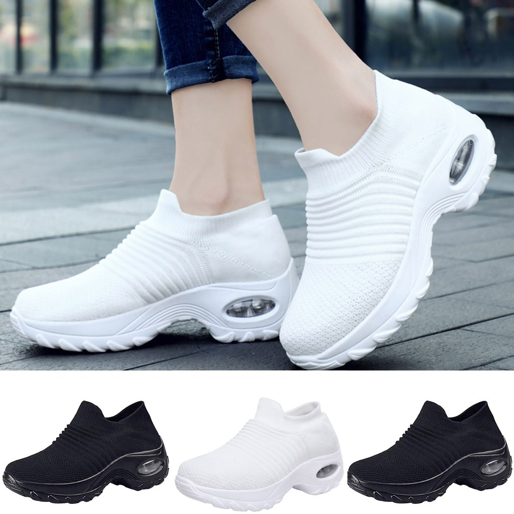 2019 Women Sneakers Vulcanized Shoes Sneakers Women Slip On Flat Shoes Women Plus Size Walking Buffer Cushion Women Shoes #805