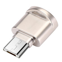 micro usb 2.0 type c otg phone mini memory card reader adapter Aluminum cardreader for micro SD/TF microsd laptop(China)