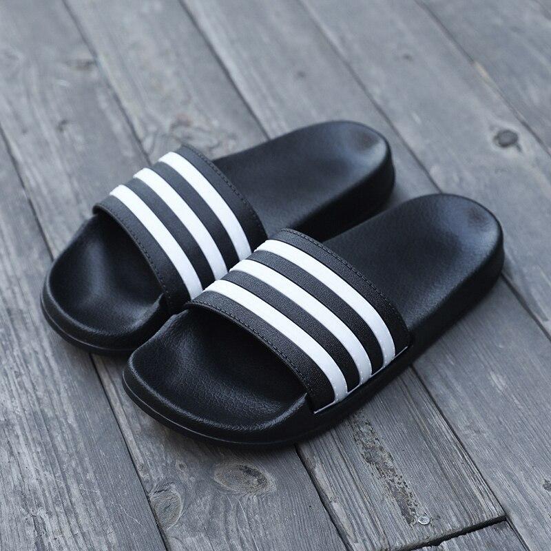 Men Shoes Flip-Flops Couple Men's Slippers Male Stripes Femme Casual Summer Women Chaussures