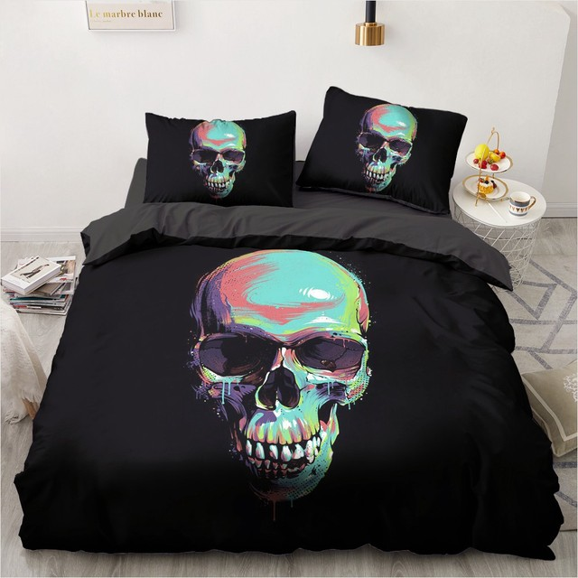 3D TOO YOUNG TO DIE SKULL BEDDING SETS