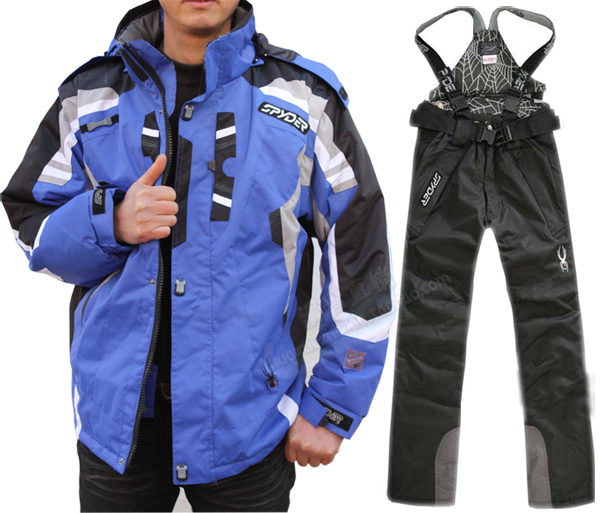 Men Winter Waterproof Outdoor Coat + Pants Ski Suit Sets Jacket Coat Snowboard
