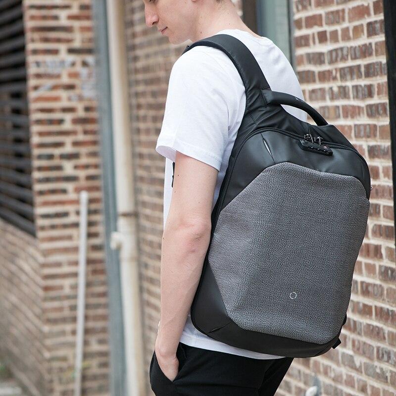 Korin Design le ClickPack Pro Anti coupure Anti voleur sac à dos sac à dos pour ordinateur portable pour homme 15.6 pouces sacs d'école pour garçons - 6