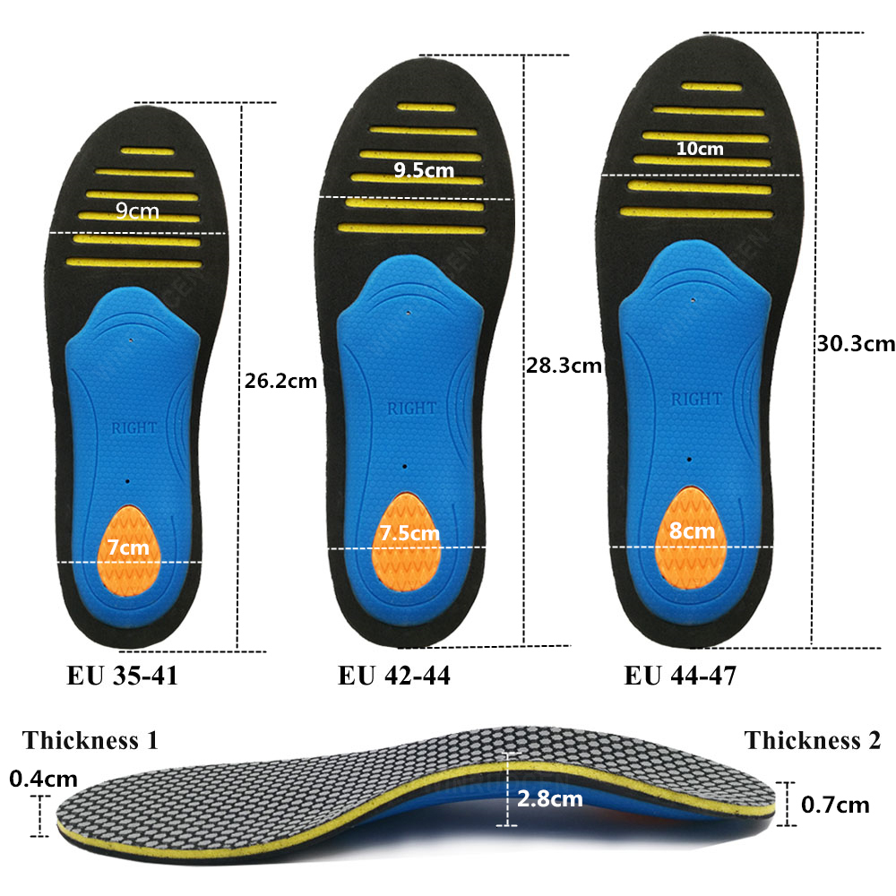 EVA Orthopedic Insoles Orthotics flat foot Health Sole Pad for Shoes insert Arch Support pad for plantar fasciitis Men Woman