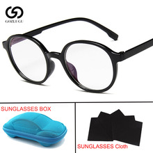 Fashion Women Glasses Frame Men Eyeglasses Vintage Round Clear Lens with box