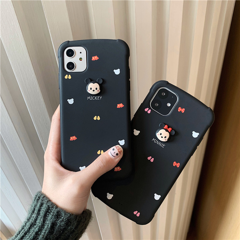 Cute Cartoon 3D Mickey Minnie Soft Silicone Phone Cases For Apple Iphone 7 8 Plus X XR XS MAX 11 Pro Max Protection Back Cover