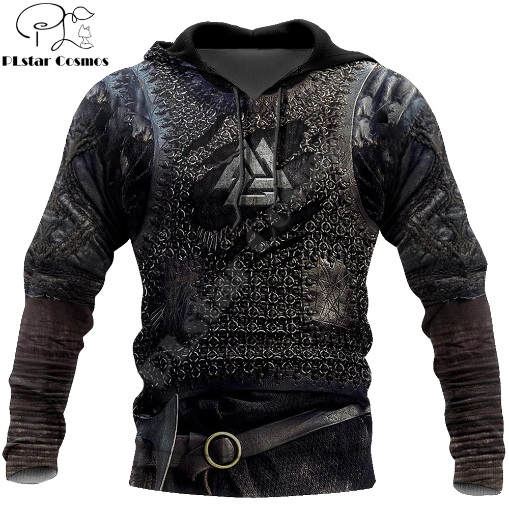 Viking Armor Tattoo 3D Printed Men hoodies Harajuku Fashion Sweatshirt Cosplay costume Unisex Casual jacket Zip Hoodie WJ003