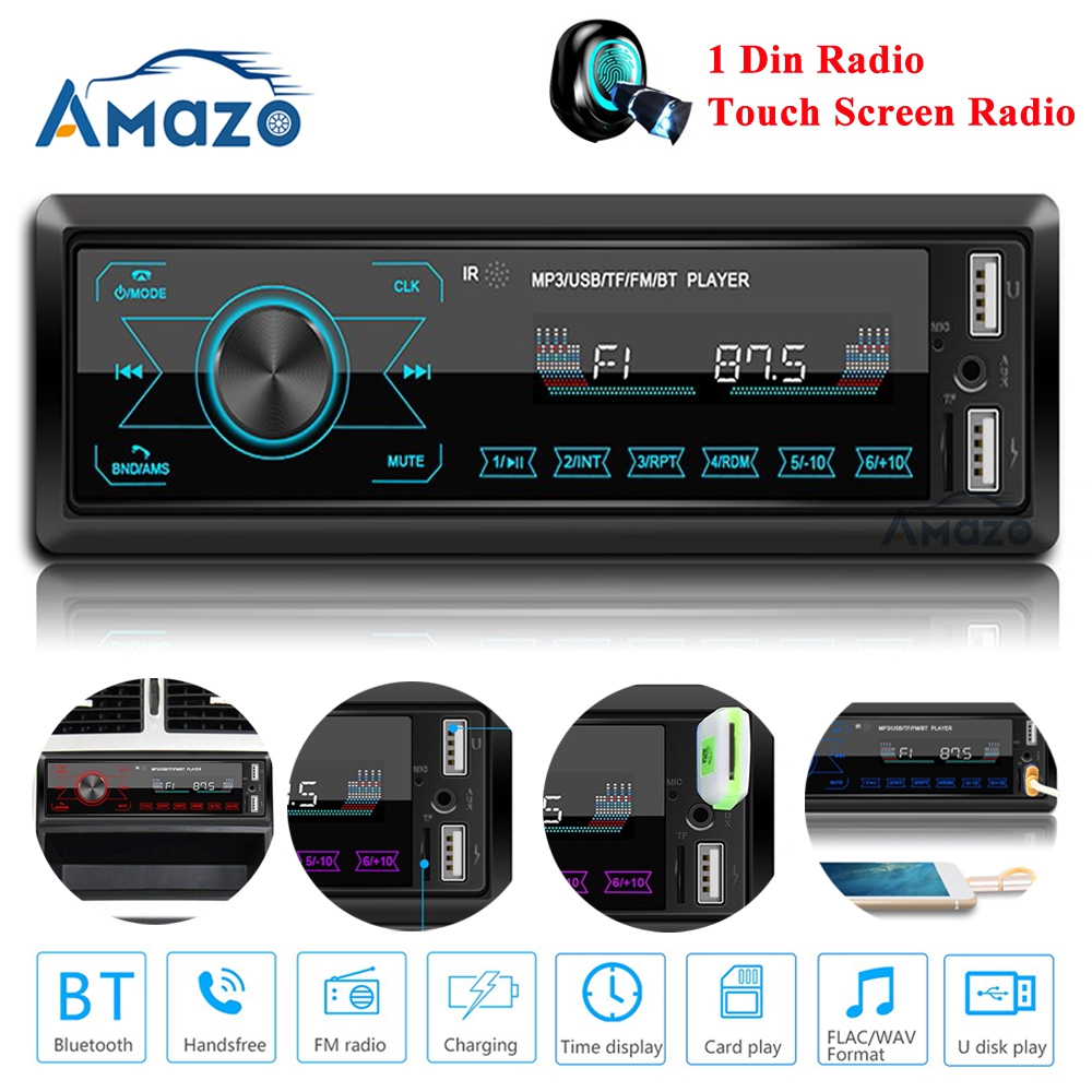 Autoradio 1 din car radio 1 din android Touch Screen Bluetooth Audio Player MP3 Player image