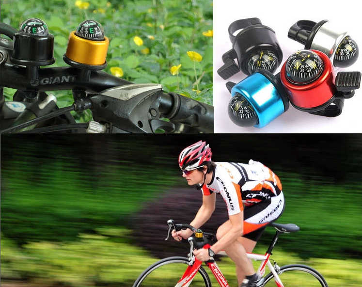2 in 1 Bicycle Handlebar Bell Compass for Mountain MTB Bike Safety Cycling Kit