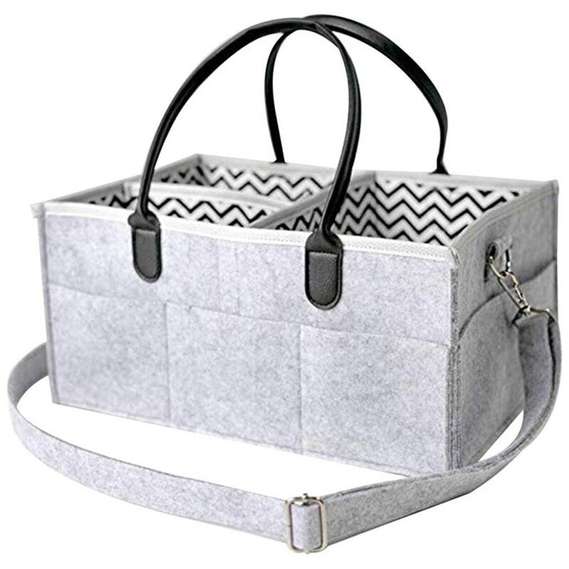 New Folding Premium Baby Diaper Caddy Organizer Portable Nursery Storage Bin Bag With Adjustable Shoulder Straps Storage Basket