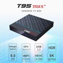 T95Z Plus/T95 MAX PLUS Smart TV box 16/32/64GB Android 7.1/9.0 4K TV BOX 2.4G/5GHz WiFi BT4.0 Set Top Box T95 media player 10pcs amlogic s912 android 7 1 tv box t95z plus 2gb 3gb 16gb 32gb octa core dual wifi smart t95z plus set top tv box pk h96 pro