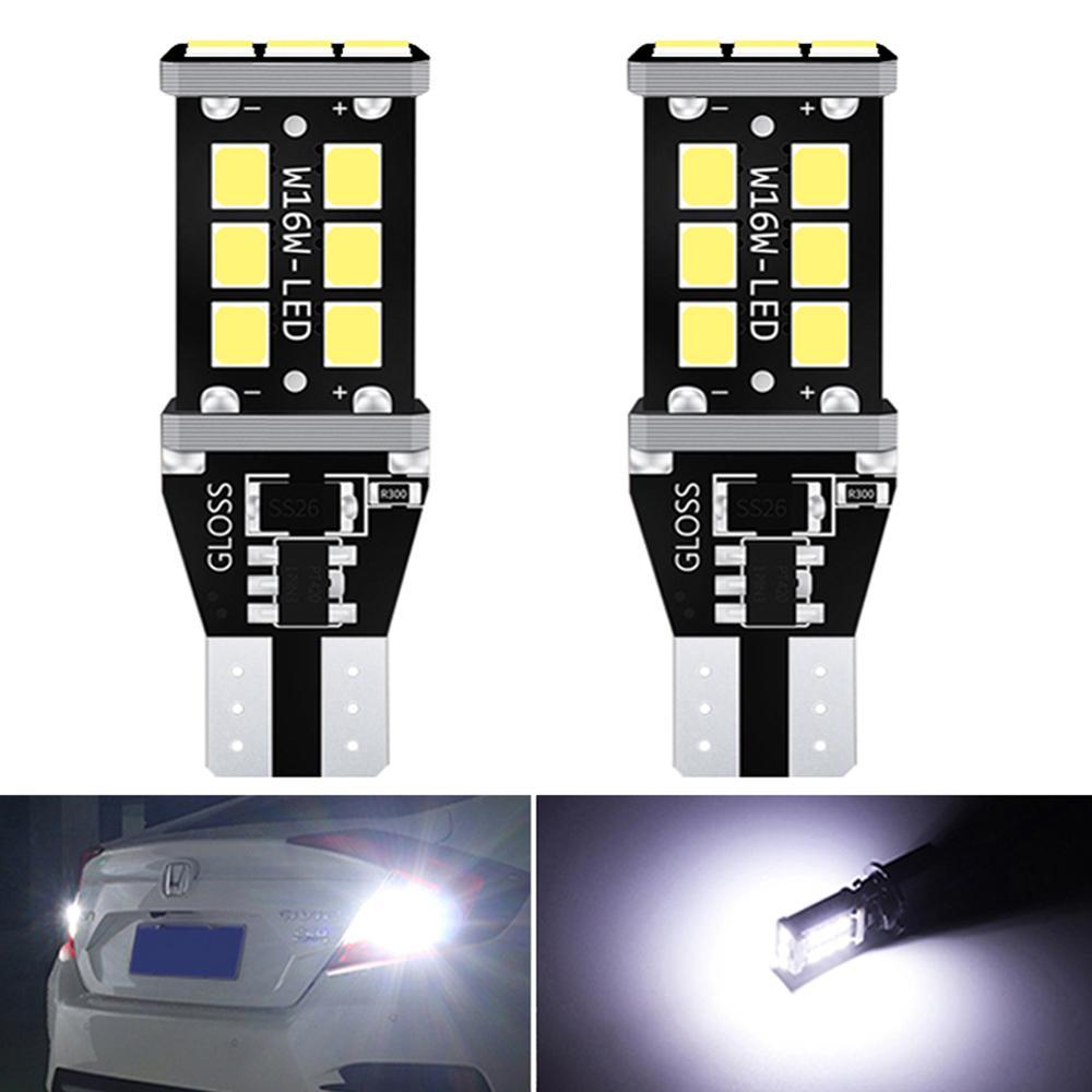 2Pcs T15 T16 W16W LED Canbus Bulbs No Error Car Reverse Backup Light For Renault Duster Megane 2 3 Logan Clio 4 Captur Scenic