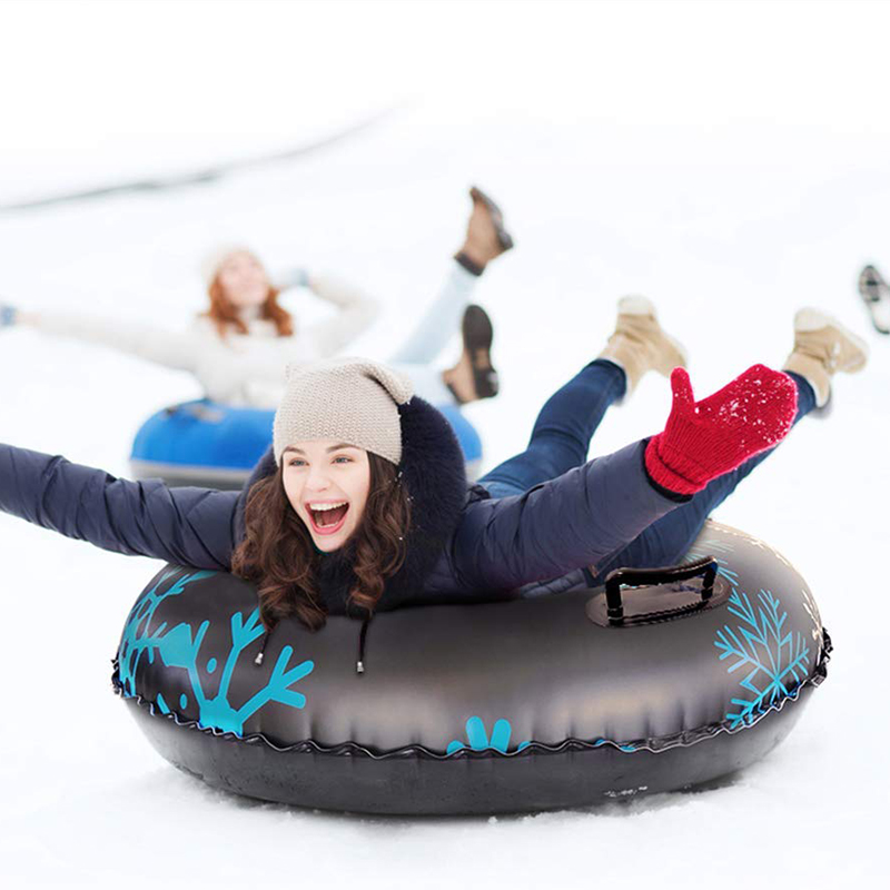 Ski Circle With Handle Inflatable Ski Circle Of Snow Tube Skiing Thickened Size Circle Snow Ski Winter Sledges Tubing For Winter