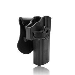 Amomax 調整可能な戦術的なホルスター sig ザウアー P320 フルサイズ右片手黒