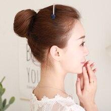 LUPU полный настоящие волосы половина Фрикаделька голова древний парик цветок бутон голова невесты бигуди пушистые натуральные поддельные булочки прямые волосы сумка