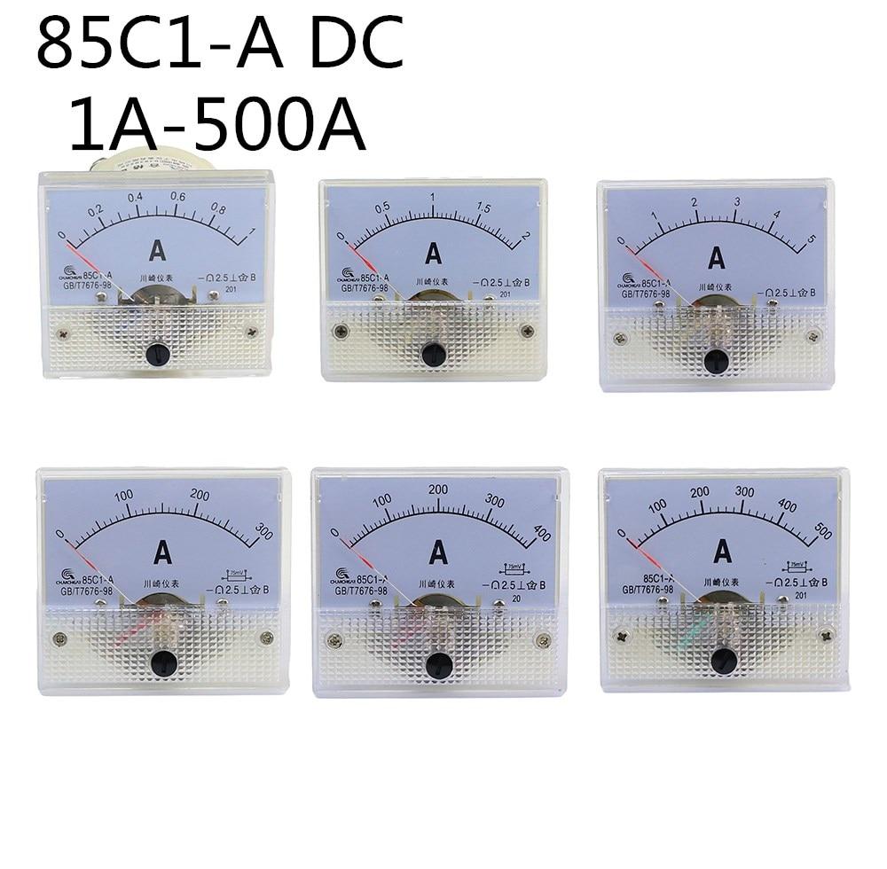 85C1-A DC стрелочный Амперметр 1A 2A 3A 5A 10A 20A 30A 50A 75A 100A 150A 200A 300A 400A 85C1 серии аналоговая AMP метр 64*56 мм Размер