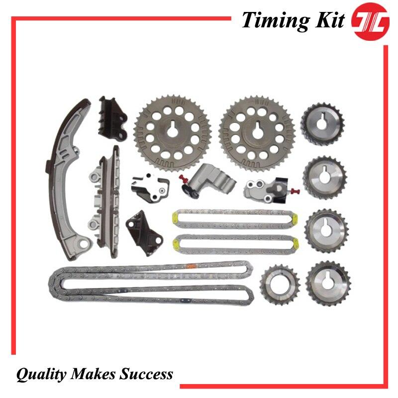 TCK0508-JC zamanlama zinciri kiti araba için Nissan VQ20DE/VQ30DE leopar/SKYLINE/STAGEA 2.0L/3.0L 94-04 motor otomobil parçaları