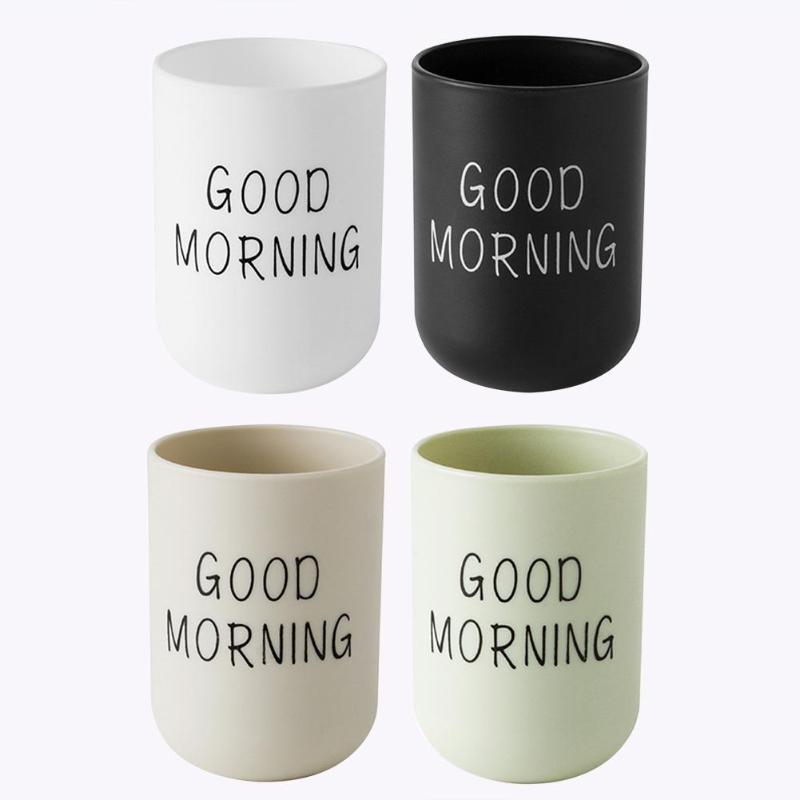 PP Material Water Cups Simplicity Northern Europe Fashion Light Toothbrush Holder Washing Storage Mug Bathroom Organizer