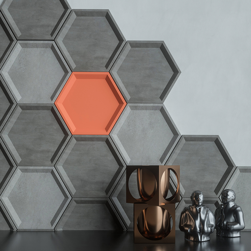Hexagonal Concrete Wall Brick Silicone Mold Cement Tray Mold Home Decoration Plaster Placings Mold